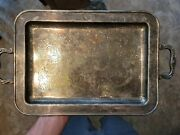 Antique Leonard Silverplate Footed Tray With Handles