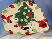 Lenox Peanuts Charlie Brown Snoopy's Christmas Cookie/canape Plate 10
