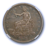 1874 1 Trade Dollar Ngc Au 50 About Uncirculated Original Toned Better Date ...