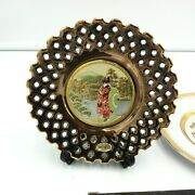 The Art Of Chokin Decorative Plates - 24k Gold - 2 Plates, One Stand And 1 Box