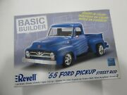 Revell '55 Ford Pickup Street Rod - 1/24 - Open Box Sealed Parts