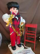 Telco Motion-ettes Of Christmas Boy Christmas Lights And Step Ladder Motion Lights