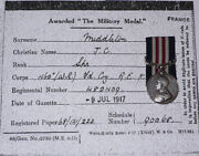 Wwi Military Medal To 1/2 West Riding Field Coy Royal Engineers