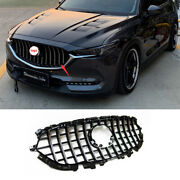 For Mazda Cx-5 2017-2021 Abs Silver Front Center Mesh Grille Grill Cover Trim 1x