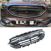 For Mazda Cx-5 2017-21 Abs Carbon Fiber Front Center Mesh Grille Grill Cover 1x