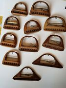 11 Antique Maple Loom Shuttle Bobbins. From The Manhattan Fabric District