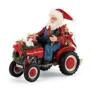 Possible Dreams Country Living Santa Riding Tractor Figurine 6006028