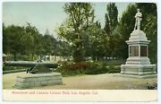 Postcard - Los Angeles Grand Army Of The Republic Gar Monument Central Park