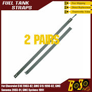 2 Pairs Fuel Tank Straps For 82-02 Chevy Gmc S10 S15 Pickup Truck 18.5/20 Gallon