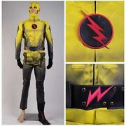 Reverse-flash Eobard Thawne Professor Zoom Cosplay Costume Suit Mask Outfit