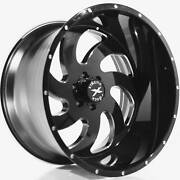 4 - 24x14 Black Milled Wheel Xtreme Force Xf1 6x135 -76