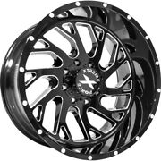 4 - 24x14 Black Milled Wheel Xtreme Force Xf8 6x135 -76