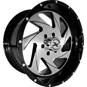 4 - 24x14 Black Brushed Wheel Xtreme Force Xf7 8x6.5 -76