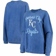 Kansas City Royals G-iii 4her By Carl Banks Womenand039s Script Comfy Cord Pullover