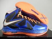 Nike Lebron X 10 Ps Elite Knicks Hyper Blue-pure Platinum Sz 10.5 [579827-400]