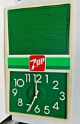 Vintage 14 X 24 7 Up, Advertising Clock And Menu Board, Tested, Works
