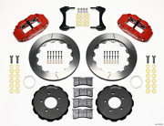 Wilwood Narrow Superlite 6r Front Hat Kit 12.88in Red 2006-up Civic / Crz 140-1