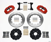 Wilwood Narrow Superlite 6r Front Hat Kit 14.00in Red For Mitsubishi Evo Viii 1