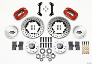 Wilwood Forged Dynalite Front Kit 11.00in Drilled Red 79-87 For Gm G Body 140-1