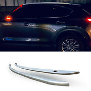 For Mazda Cx-5 2017-2021 Silver Aluminum Top Roof Rack Luggage Carrier Rail 2pcs