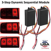 3step Sequential Dynamic Chase Flash Module Boxes For Car Rear/turn Signal Light