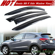 Fit For Honda Hr V 2nd 2014-2019 Side Window Visor Sun Rain Guards Smoke Lx Ex