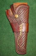 Vintage 1920and039s Or 30and039s H.h. Heiser 526 Holster Fits Colt New Service 5 1/2