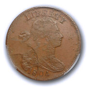 1804 1c Draped Bust Large Cent Pcgs Ms 63 Bn Uncirculated Cac Private Restrik...