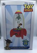 Disney Toy Story 25th Anniversary Light Up Snowglobe Limited Edition New W Box