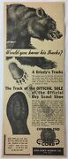 1950 Gro-cord Boy Scout Shoes Ad Grizzly Bear
