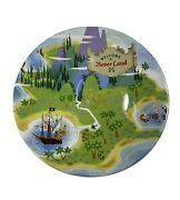 Disney Welcome To Neverland 7 Inch Peter Pan Collector Dessert Plate Rare