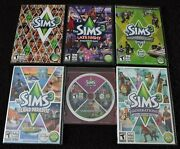 Lot Of 6 Sims 3 Base Pc Game And 5 Expansion Packs With Key Codes High End Loft +