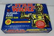 Vintage Star Wars Topps Sugar Free Bubble Gum Cards Sealed Wax Box Mint