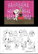Peanuts Snoopy Houdiniand039s Hat Trick Limited Ed Of 50 Animation Cel N Print Signed