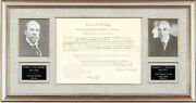 Warren G. Harding - Document Signed 07/17/1922 Co-signed By Charles E Hughes