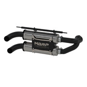 Mbrp 11-14 Polaris Rzr 900 All Models Stacked Dual Slip-on Performance Series