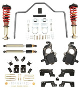 Complete Kit Inc. Damping/height Adjustable Front Coilovers And Rear Sway Bar 100