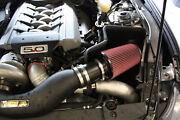 Jlt 15-19 For Ford Mustang Gt W/paxton/vortech Supercharger Air Box W/red Filt