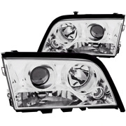 Anzo 1994-2000 For Mercedes Benz C Class W202 Projector Headlights Chrome 12115