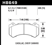 Hawk 08-12 For Cadillac Cts-v / 12 For Jeep Grand Cherokee Wk2 Srt8 Dtc-60 Fro