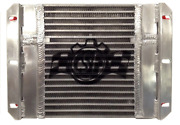 Csf Dual Fluid Bar And Plate Hd Oil Cooler W/9in Spal Fan 1/3 And 2/3 Partition -