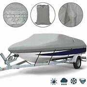 Ogrmar Heavy Duty Trailerable Waterproof Boat Cover With 2 Air Vent Marine Grade
