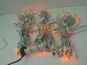 Lot Of 3 Christmas String Lights Mini Multi-color Steady White Wire Set 50 Bulbs