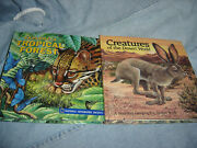 2 National Geographic Pop Up Bookstropical Forest And Creatures Of The Desert