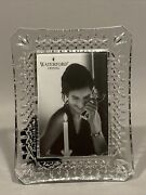 Waterford Crystal Frame 4x6 Photo Lismore Picture Photograph Holder Beautiful