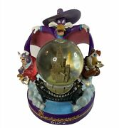 Rare Disney Darkwing Duck Snowglobe 99355 Light Up Musical Beethoven 5th Exc