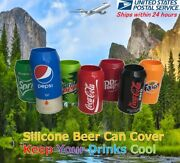 Beer Can Covers, Silicone Sleeve Hide A Beer Coca-cola,zero,pepsi, And More12oz