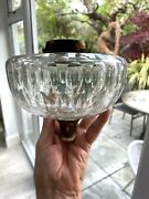Antique Coin Dot Clear Glass Oil Lamp Font