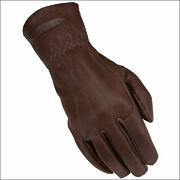 C-3-09 09 Size Heritage Horse Carriage Driving Riding Glove Deer Skin Chocolate