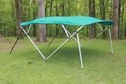 New Vortex Square Tube Frame 4 Bow Pontoon/deck Boat Bimini Top 12and039 Teal 91-96